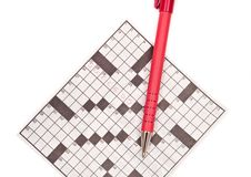 Free Crossword Puzzle With Pen Stock Photos - 15745613