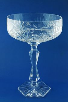 Free Glass On The Blue Background Royalty Free Stock Photography - 15746287