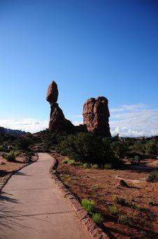 Balanced Rock At Arches National Park, UT Royalty Free Stock Photo