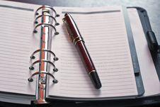 Free Pen On Planer Royalty Free Stock Photo - 15748115