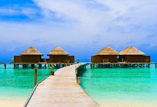 Free Water Bungalows Stock Photography - 15748342