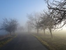 Free Foggy Road Royalty Free Stock Image - 15748796