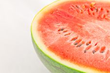 Free Half Of Ripe Sliced Green Watermelon. Royalty Free Stock Photo - 15749055