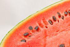 Free Half Of Ripe Sliced Green Watermelon. Stock Photos - 15749163