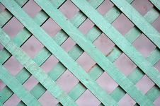 Free Green Wooden Lattice Royalty Free Stock Photos - 15749428