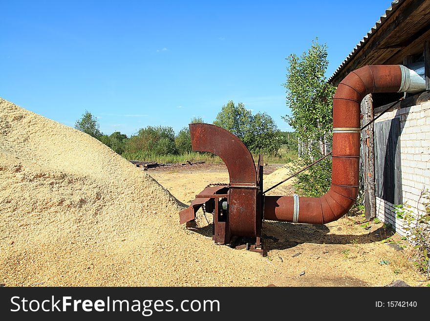 Old rusty mechanism
