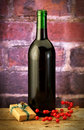 Free Wine Bottle With Wrapped Box Royalty Free Stock Photos - 15750008