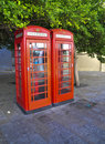 Free Two Phone Booths Stock Photo - 15759830