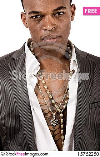 Closeup portrait of african american man Stock Photo