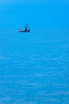 Free Alone In The Sea Royalty Free Stock Image - 15750326
