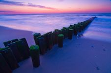 Free Dawn Pilings Royalty Free Stock Photos - 15750488