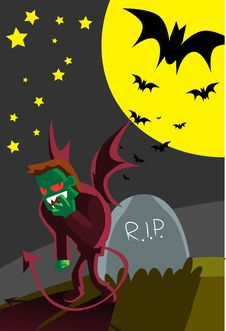 Free The Devil In Halloween Stock Image - 15750591