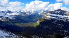 Free Aeriel Shot Of Glacier National Park Stock Photos - 15750773