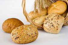 Free Basket With The Bread Royalty Free Stock Photos - 15751268