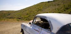 Free Old Car Left In The Desert Stock Photography - 15751652