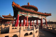 Free Traditional Architecture -The Beihai Pavilions Stock Photo - 15751660