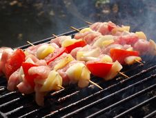 Free Barbecue With Meat And Vegetables Stock Photo - 15751730