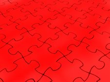 Free Red Puzzle Background Royalty Free Stock Images - 15751799