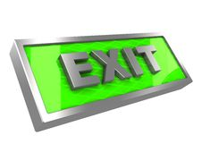 Free Exit Sign Royalty Free Stock Photography - 15751847