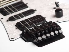 Free White Guitar Royalty Free Stock Photography - 15753087