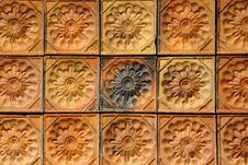 Mosaic Wall Baked Clay Stock Photos