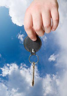 Retro Key In Hand Stock Image