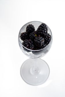 Glass Of Blackberries Stock Photography