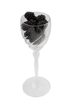 Glass Of Blackberries Stock Images
