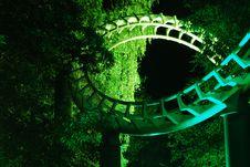 Free Roller Coaster Corkscrew Royalty Free Stock Photos - 15753608