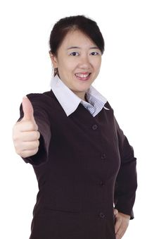 Businesswoman Giving Thumbs Up Royalty Free Stock Photos