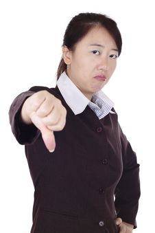 Free Businesswoman Giving Thumbs Down Royalty Free Stock Photo - 15753705
