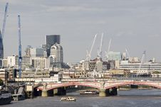 Free London Bridge And Equipments In Background Stock Photos - 15754113