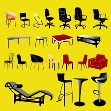 Free Chair And Table Collection - Vector Stock Image - 15754971