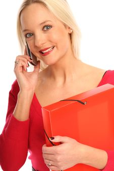 Business Woman With A Cellphone Royalty Free Stock Images