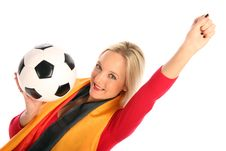Female Football Fan Stock Images