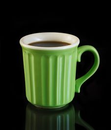 Free Green Coffee Cup Royalty Free Stock Image - 15755516