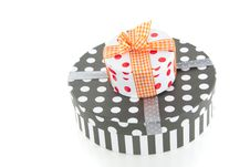Free Dotted Giftboxes With Ribbons Stock Photos - 15756123