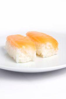 Free Japanese Sushi With Salmon Fish Stock Photo - 15756740
