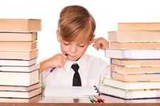 Free Boy Writing Royalty Free Stock Photo - 15757265