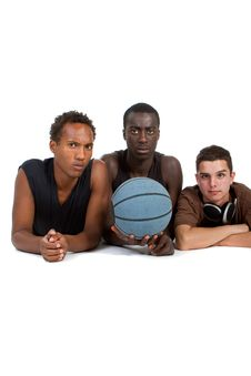 Young Sporty Interracial Teenage Group Stock Image