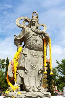 Statue Of Guan Yu Stock Image