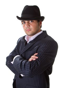 Young Stylish Businessman With Hat Royalty Free Stock Photography