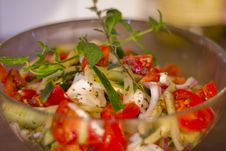 Free Salad In Glass Dish Shallow DOF Stock Images - 15758264