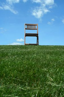 Free Wooden Chair On A Hilltop Royalty Free Stock Photo - 15758355