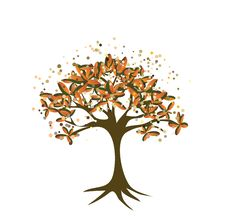 Free Vector Autumn Background With Tree Stock Image - 15758511