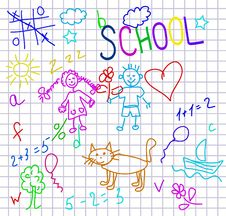 Free Vector Kids Background Stock Images - 15758524