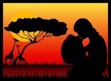 Free Silhouette Of Lovers Royalty Free Stock Photography - 15758857