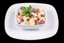 Octopus With Potatoes Royalty Free Stock Images