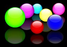 Free Glass Spheres. Vector. Eps10. Royalty Free Stock Photos - 15759688