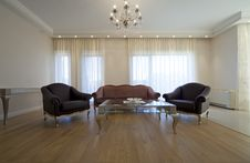 Designer Living Room Stock Image